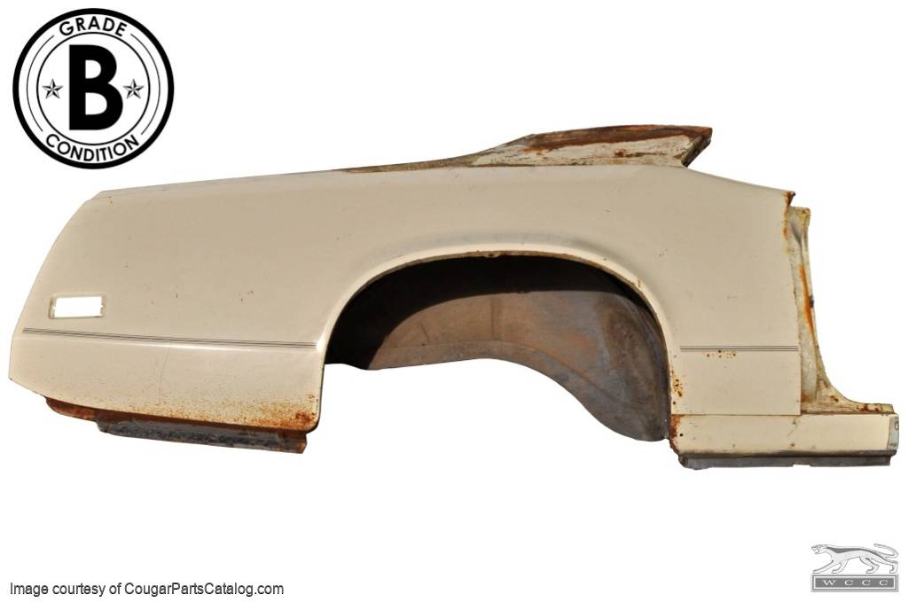 Quarter Panel - Passenger Side - Grade B - Used Fits: 1971 - 1973 Mercury  Cougar
