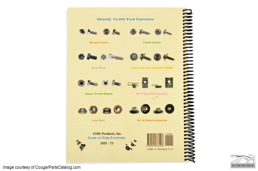 Guide To Ford Fasteners - New ~ 1967 - 1973 Mercury Cougar / 1967 - 1973 Ford Mustang - 20582