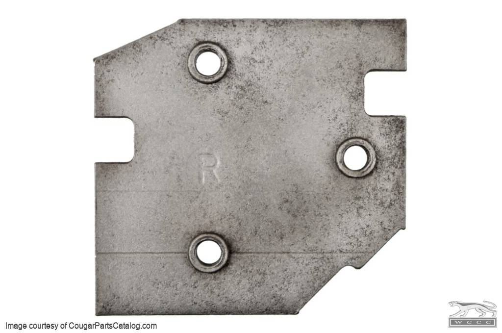 Plate - Door Hinge to Pillar - Passenger Side Upper - Used ~ 1971 - 1973 Mercury Cougar / 1971 - 1973 Ford Mustang - 20696