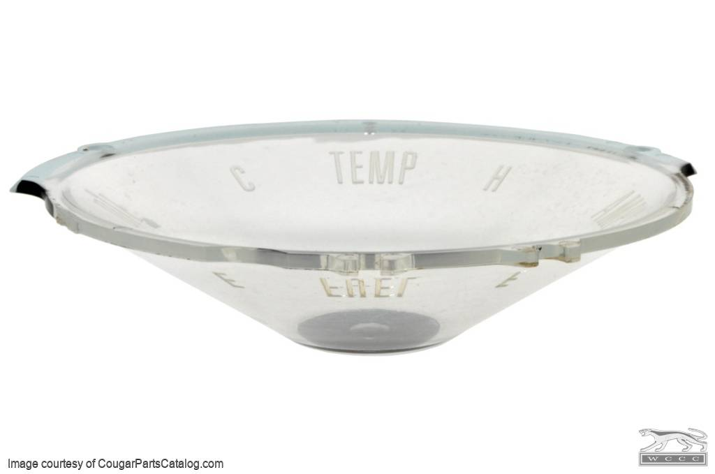 Lens - Fuel / Temp / Oil / Amps Gauge - Standard - Used ~ 1967 - 1968 Mercury Cougar - 21-0068