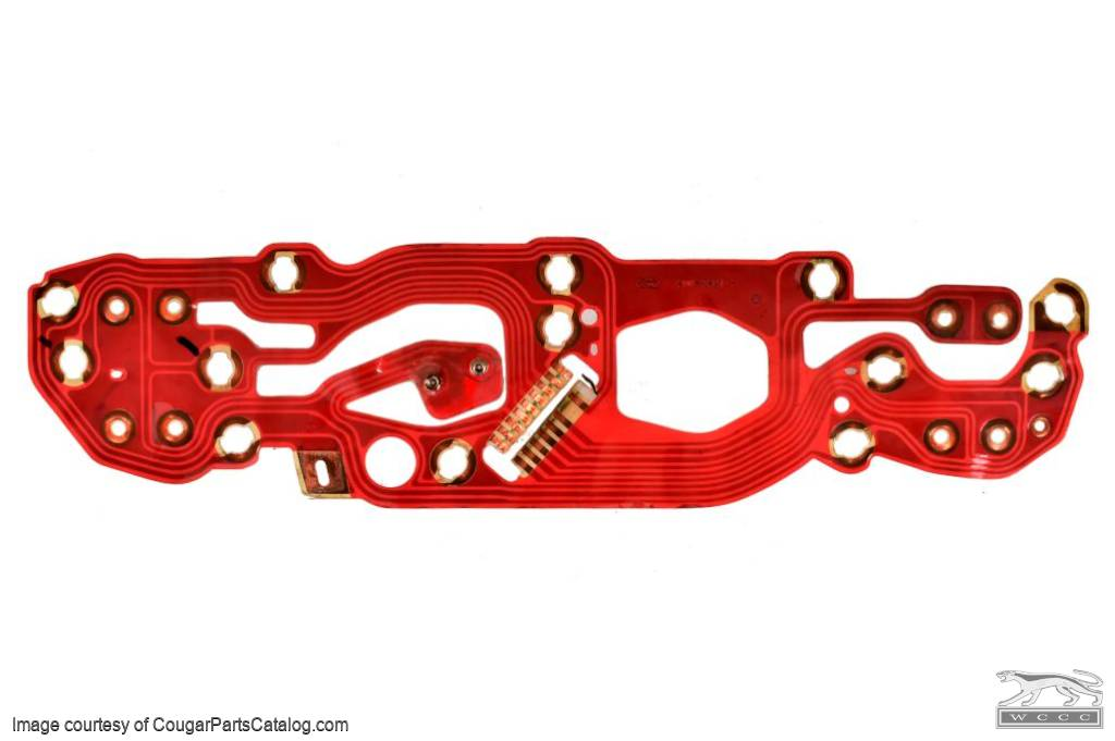 Printed Circuit Board - LATE - RED - XR7 - Used ~ 1969 - 1970 Mercury Cougar - 21-0108