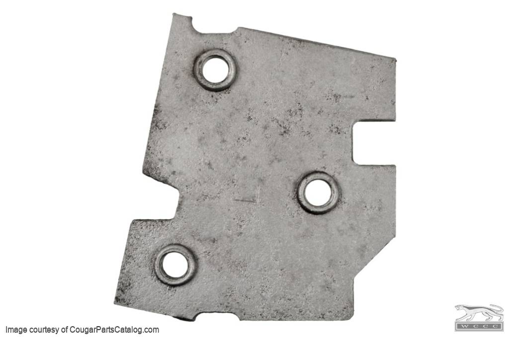 Plate - Door Hinge to Pillar - Driver Side Lower - Used ~ 1971 - 1973 Mercury Cougar / 1971 - 1973 Ford Mustang - 22550