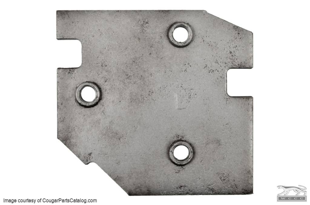 Plate - Door Hinge to Pillar - Driver Side Upper - Used ~ 1971 - 1973 Mercury Cougar / 1971 - 1973 Ford Mustang - 22559