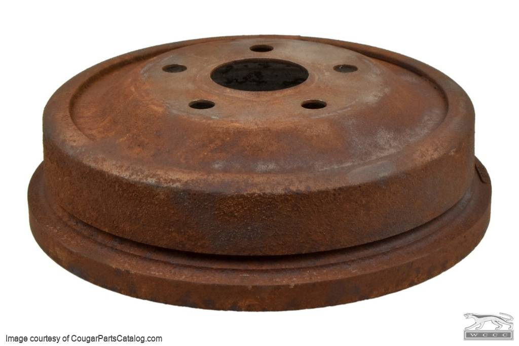 Brake Drum - Rear - 10 x 2 Inch - Used ~ 1969 - 1973 Mercury Cougar / 1969 - 1973 Ford Mustang - 23798