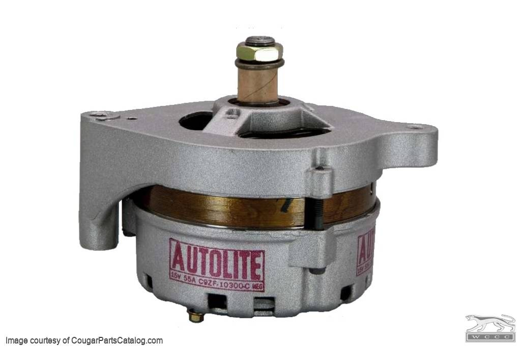 Alternator - 302 / 351 - without Power Steering - CONCOURS CORRECT - Restored ~ 1969 Mercury Cougar / 1969 Ford Mustang - 23908