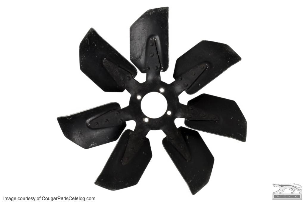 Cooling Fan - Radiator - 7 Blade - 289 / 302 - w/ A/C - Used ~ 1967 - 1968 Mercury Cougar / 1967 - 1968 Ford Mustang - 23941