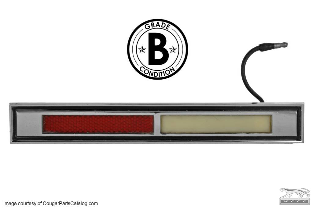 Courtesy Light Assembly - Door - Driver Side - Grade B - Used ~ 1967 - 1968 Mercury Cougar - 24100