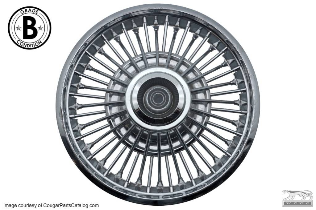 hubcap    wheel cover - black center - wire spoke