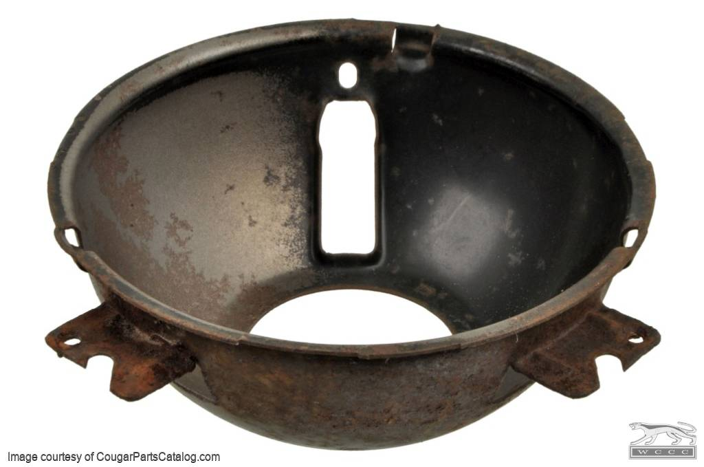 Headlight - Adjusting Ring - Passenger Side - Outer - 37A - Used ~ 1967 - 1968 Mercury Cougar - 24355