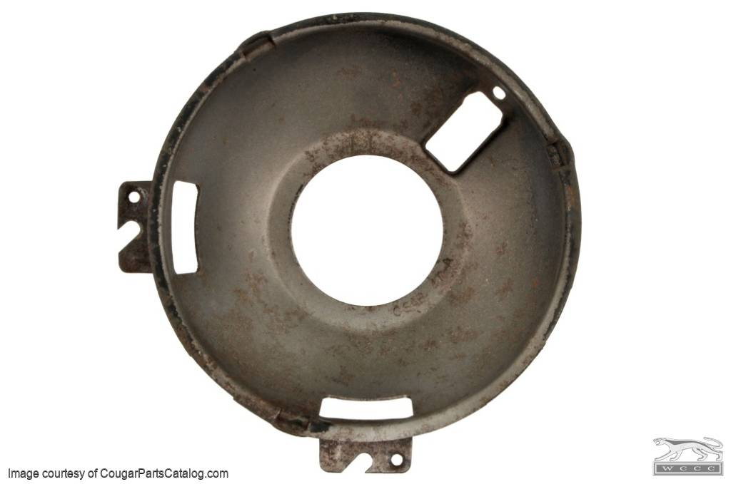 Headlight - Adjusting Ring - Driver Side - Outer - 47A - Used ~ 1967 - 1968 Mercury Cougar - 24357