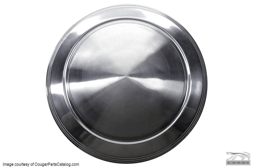 Hubcap / Wheel Cover - Dog Dish Style - 1970 Eliminator - Grade B - Used ~ 1970 - 1973 Mercury Cougar / Cyclone / Comet  1130,1970,1970 cougar,1971,1971 cougar,1972,1972 cougar,1973,1973 cougar,c8oz,comet,cougar,cover,cyclone,d0w,d1w,d2w,d3w,dish,dog,eliminator,hubcap,mercury,mercury cougar,steel,style,styled,used,wheel,hub,hub cap,cap,D1MY-1130-G,C8OZ-1130-G,grade,b,grade b