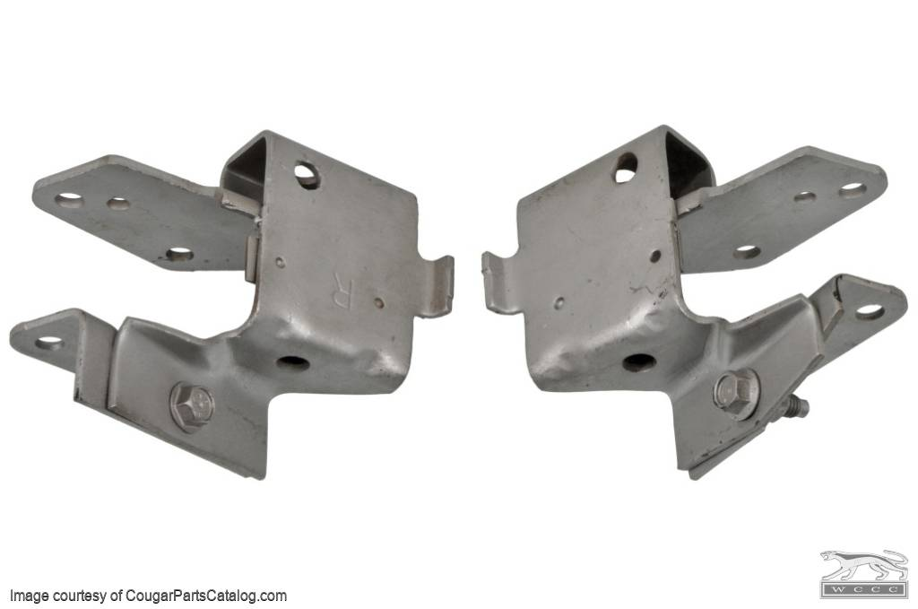 Engine Pedestal / Frame Bracket - Small Block - PAIR - Used ~ 1968 - 1970 Mercury Cougar / 1968 - 1970 Ford Mustang - 24450