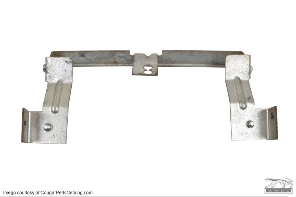 Bracket - Radio - Rear - w/ Center Console - Used ~ 1967 - 1968 Mercury Cougar / 1967 - 1968 Ford Mustang - 24555
