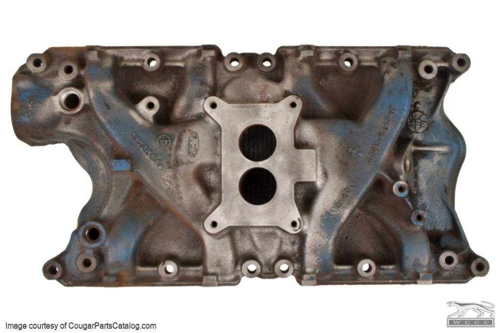 Intake Manifold - 351W-2V - Used ~ 1969 - 1970 Mercury Cougar / 1969 - 1970 Ford Mustang - 24600