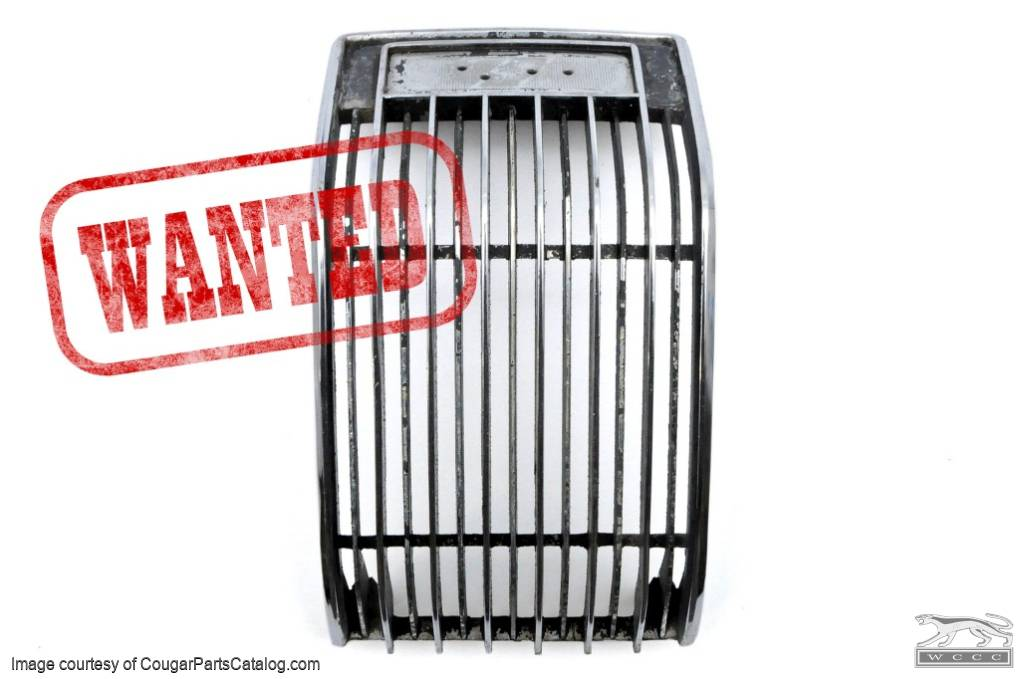 Grille - Center - Hood - Grade A - Used ~ 1970 Mercury Cougar - 25141