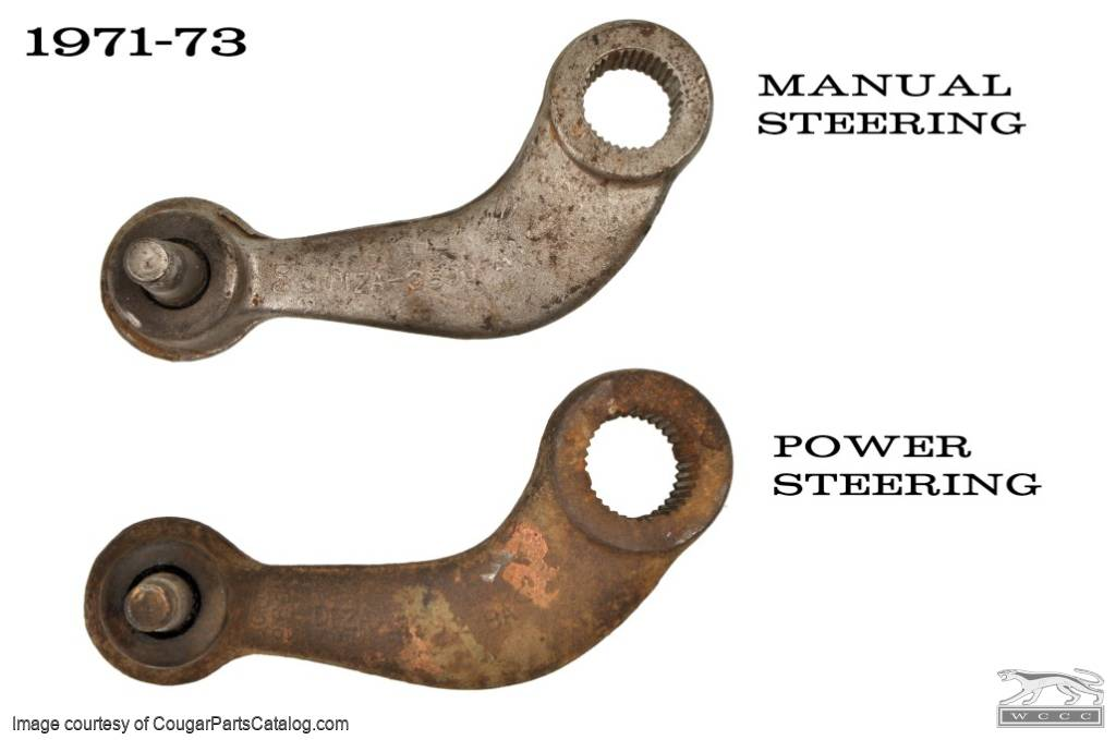 Pitman Arm - Power Steering - Repro ~ 1971 - 1973 Mercury Cougar / 1971 - 1973 Ford Mustang  - 30128