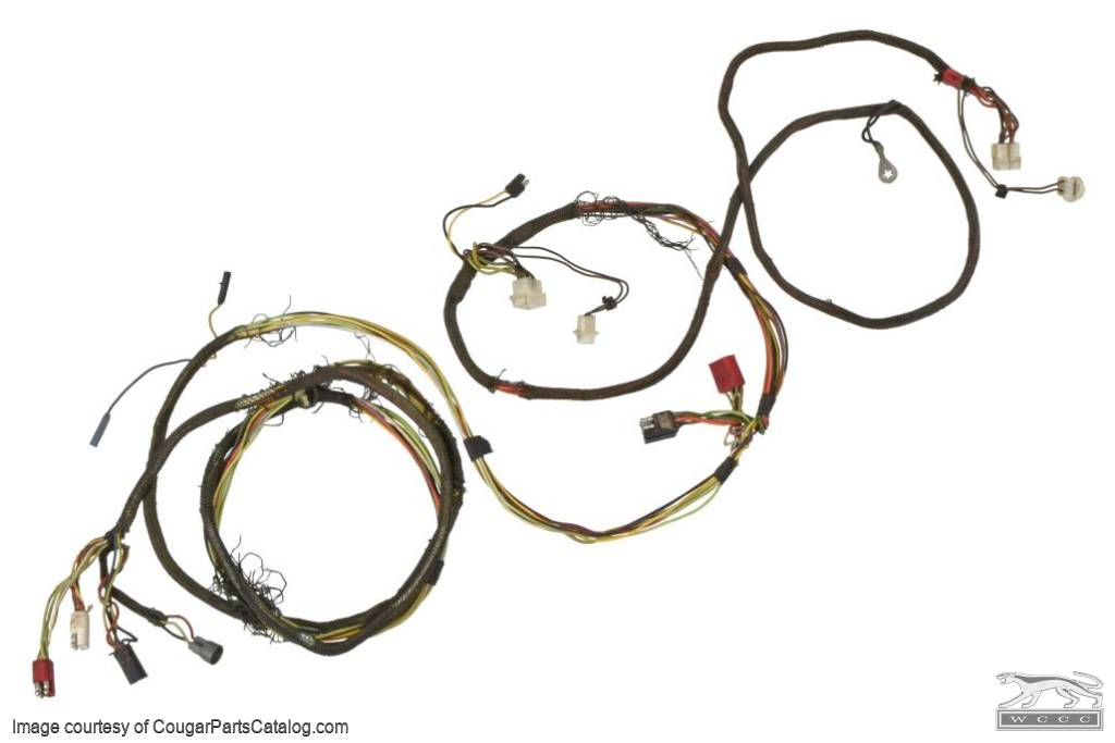 Taillight Harness - Standard - Grade A - Used ~ 1971 - 1972 Mercury Cougar - 25517