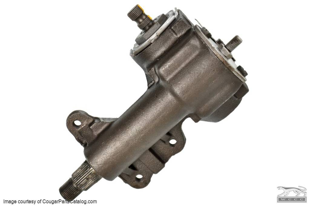 Steering Gear Box - SMB-K 1-1/8 Inch Sector Shaft - Rebuilt ~ 1967 - 1970 Mercury Cougar / 1967 - 1970 Ford Mustang SMB-K / SMB-F - 25920