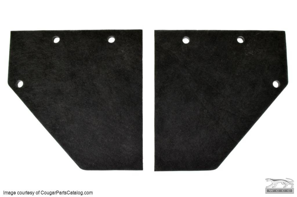 Kick Panel Insulation - PAIR - Repro ~ 1967 - 1968 Mercury Cougar / 1967 - 1968 Ford Mustang - 25973
