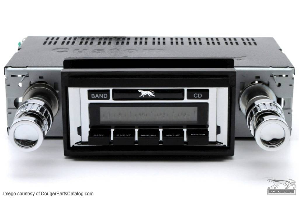 Radio - USA-630 - AM/FM - w/ USB inputs - CD Changer Control - Auxiliary Input - New ~ 1967 - 1973 Mercury Cougar - 25974