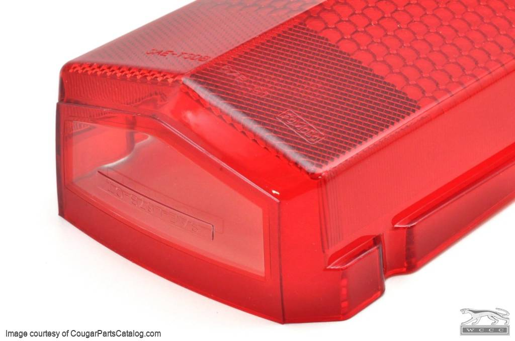 Lens - Taillight - EACH - Repro ~ 1967 - 1968 Mercury Cougar - 26058
