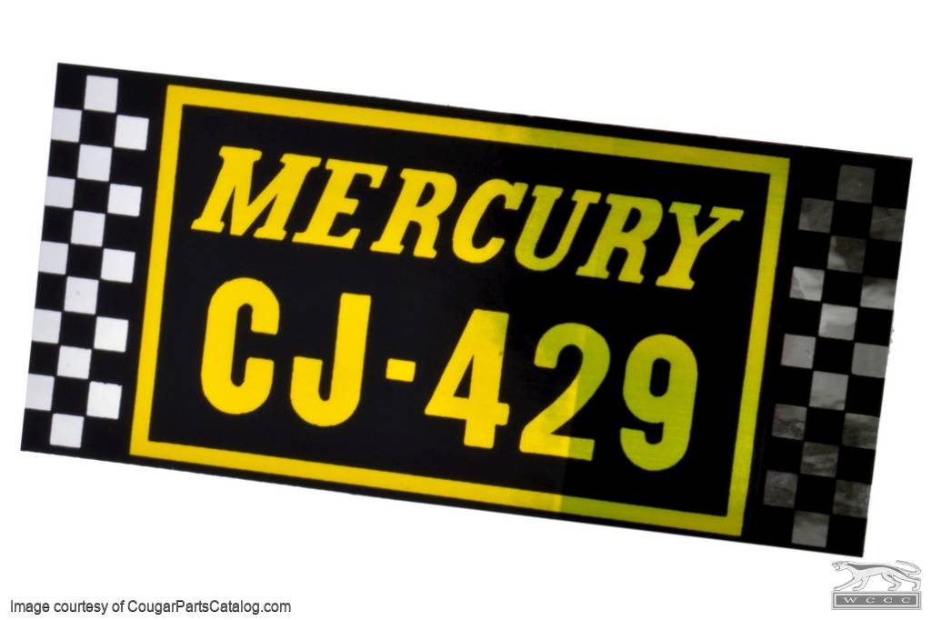 Air Cleaner Decal - 429 CJ with Ram Air - Repro ~ 1971 Mercury Cougar - 26251