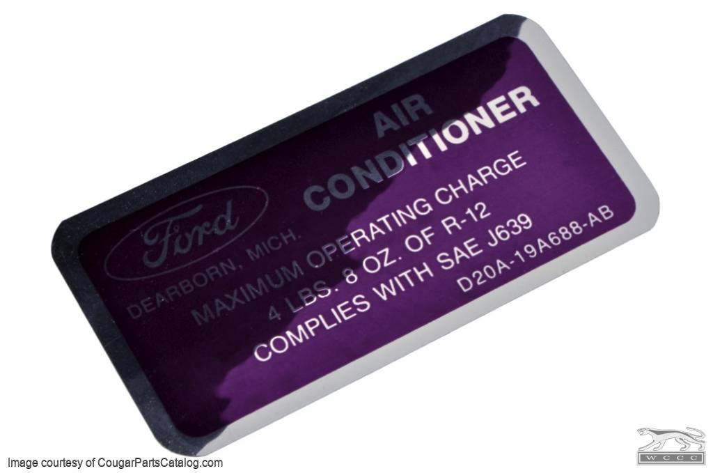 AC Charge Decal - Purple - Repro ~ 1972 - 1973 Mercury Cougar - 1972 - 1973 Ford Mustang - 26400