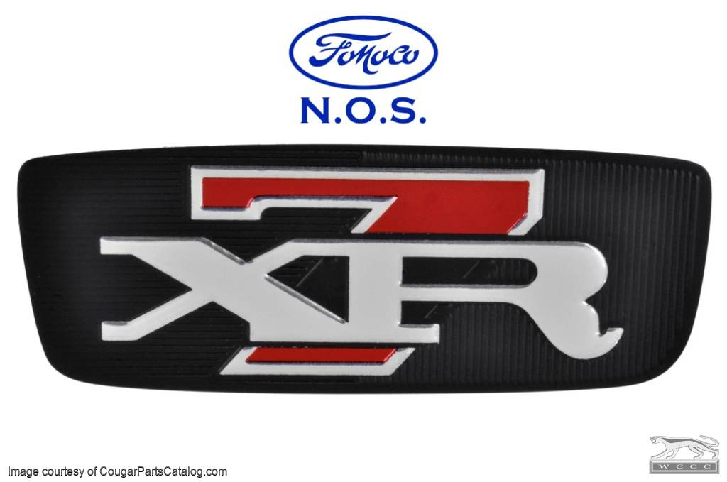 Trunk Lock Cover Plate - XR7 - Decal - NOS ~ 1968 Mercury Cougar - 26465