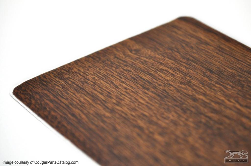 Center Console Walnut Wood Grain Decal - Repro ~ 1970 Mercury Cougar - 1970 Ford Mustang - 26495