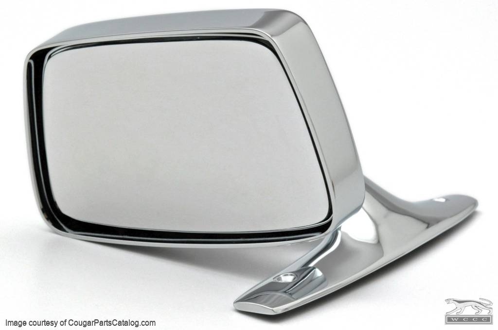 Side View Mirror - Driver Side - Chrome - Manual - Repro ~ 1967 - 1968 Mercury Cougar - 26520