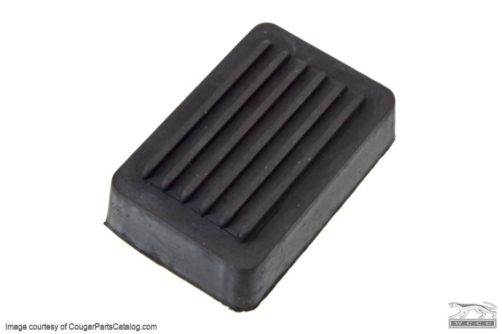 Pad - Emergency / Parking Brake Pedal - Repro ~ 1969 - 1973 Mercury Cougar / 1969 - 1973 Ford Mustang - 26636