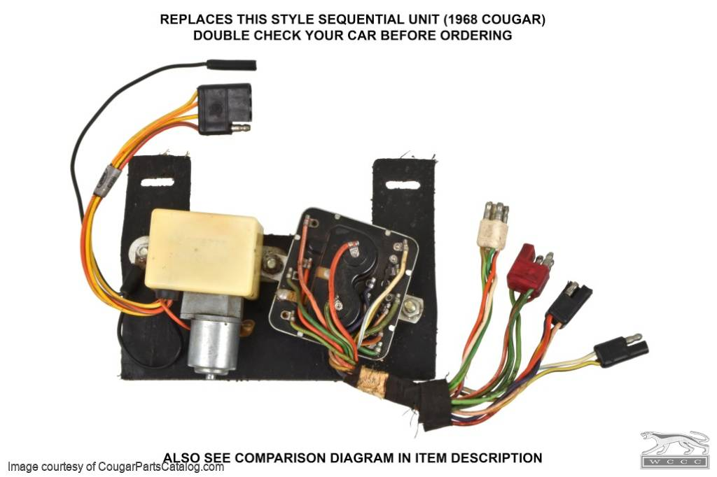 Sequential Turn Signal Box - Solid State - Repro ~ 1968 Mercury Cougar - 26707