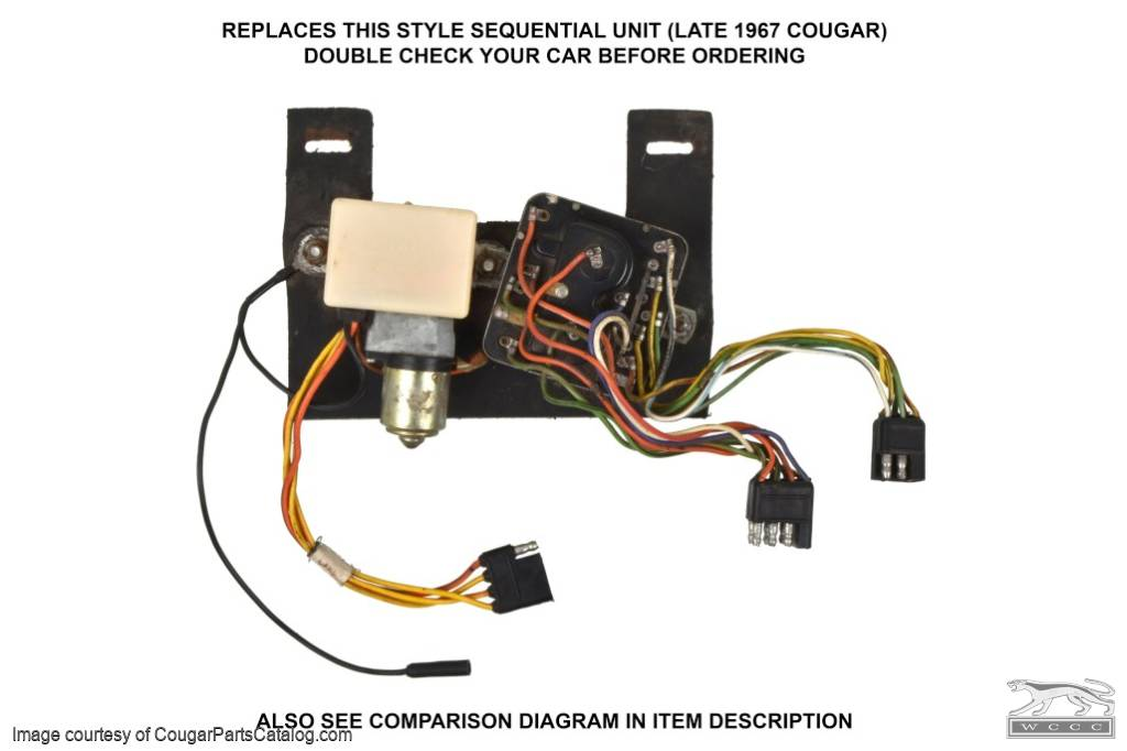 Turn Signal Sequential Unit - Solid State - LATE - After 1/2/67 - Repro ~ 1967 Mercury Cougar - 26708