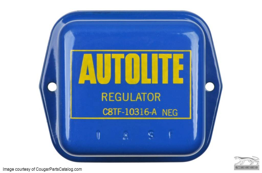 Voltage Regulator - w/ A/C - COVER ONLY - Repro ~ 1968 - 1969* Mercury Cougar / 1968 - 1969* Ford Mustang - 26743
