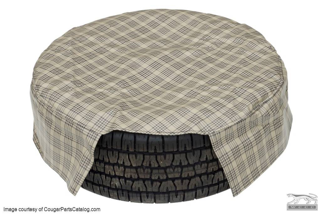 Cover - Spare Tire - 15 Inch - PLAID - New ~ 1967 - 1970 Mercury Cougar / 1967 - 1970 Ford Mustang - 26762