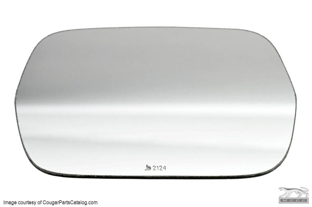 Lens - Sport Mirror - Remote - Late - Driver Side - Repro ~ 1969 - 1979 Mercury Cougar / 1969 - 1979 Ford Mustang / Torino - 26777