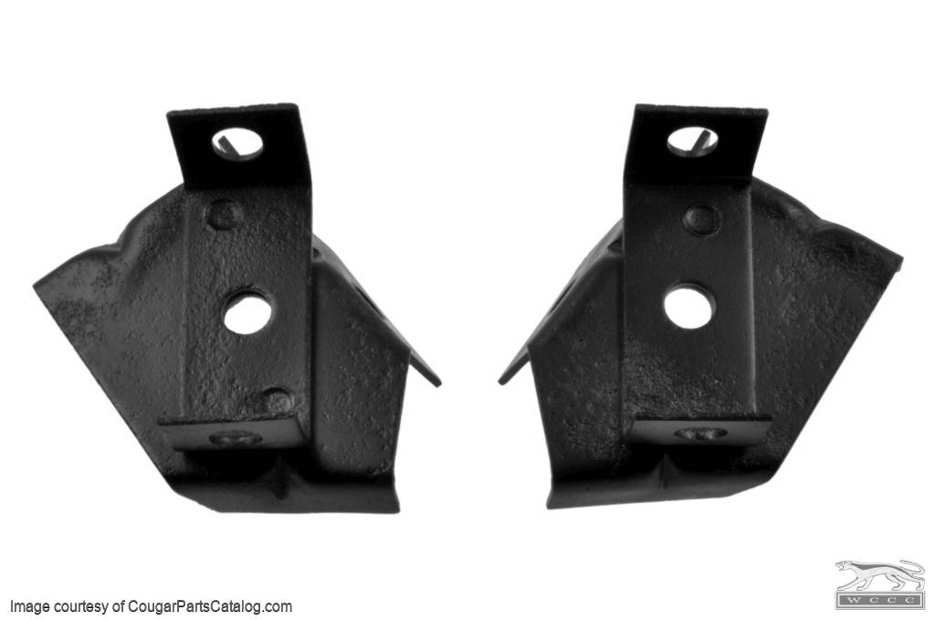 Mounting Brackets - Radiator - Lower - PAIR - Used ~ 1968 - 1970 Mercury Cougar / 1968 - 1970 Ford Mustang - 26780