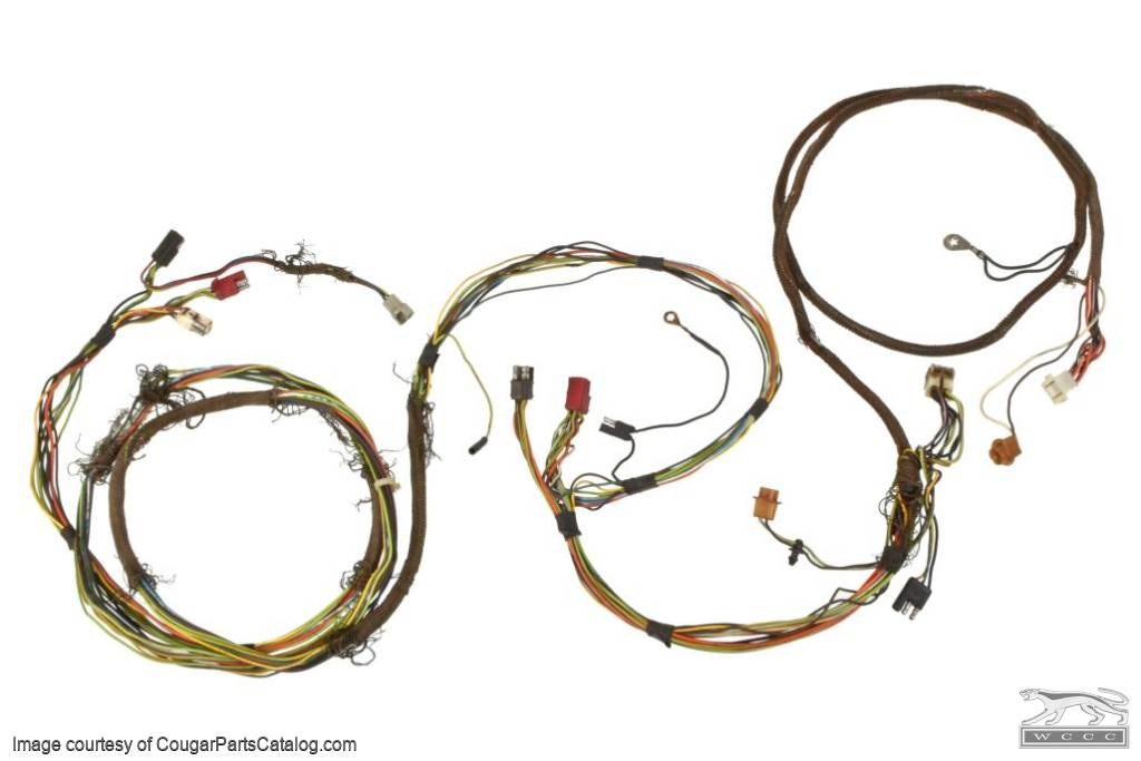 Taillight Wiring Harness - XR7 - Grade B - Used ~ 1971 - 1972 Mercury Cougar - 26954