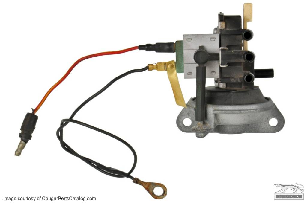 Vacuum Solenoid Valve - With Ground Wire   1967 Ford Thunderbird