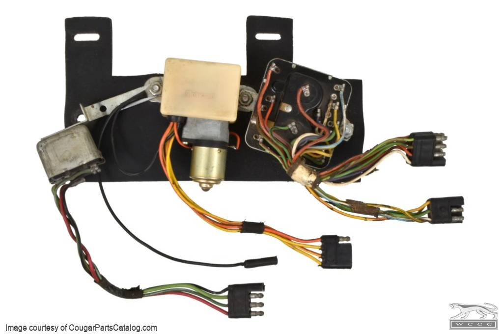 Sequential Turn Signal Assembly - EARLY - Before 1/3/1967 - Used ~ 1967 Mercury Cougar - 27417