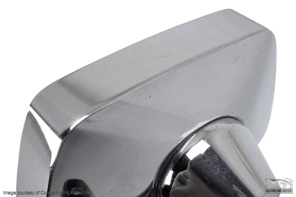 Side View Mirror - Driver Side - Chrome - Manual - Grade A - Used ~ 1967 - 1968 Mercury Cougar - 30165