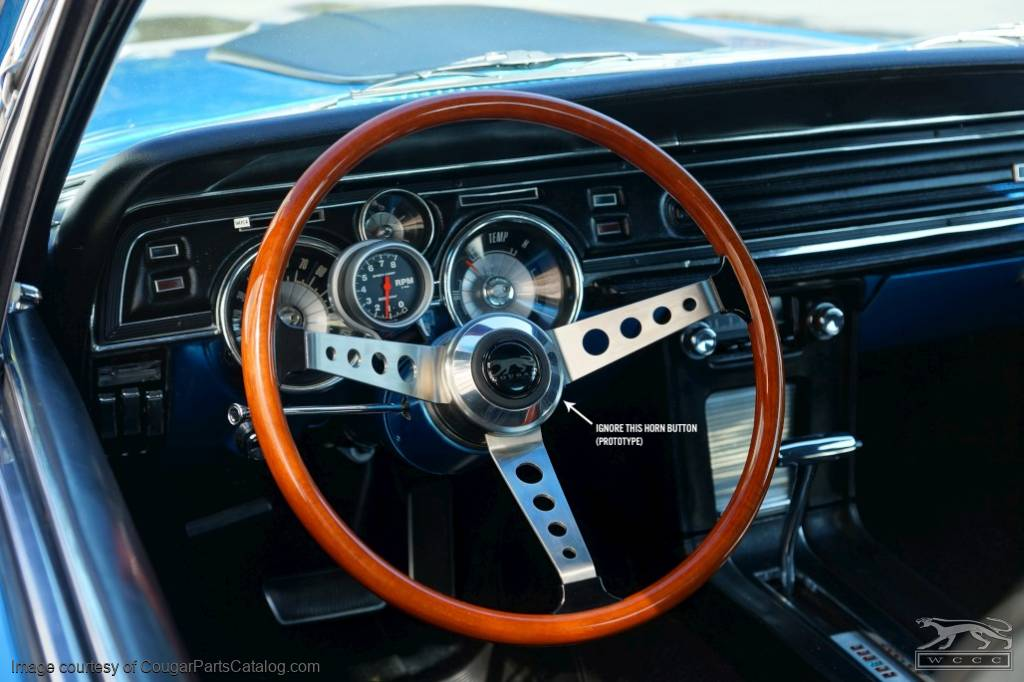 Steering Wheel - Shelby GT350 / GT500 - Repro  ~ 1967 - 1973 Mercury Cougar / 1967 - 1973 Ford Mustang - 30246