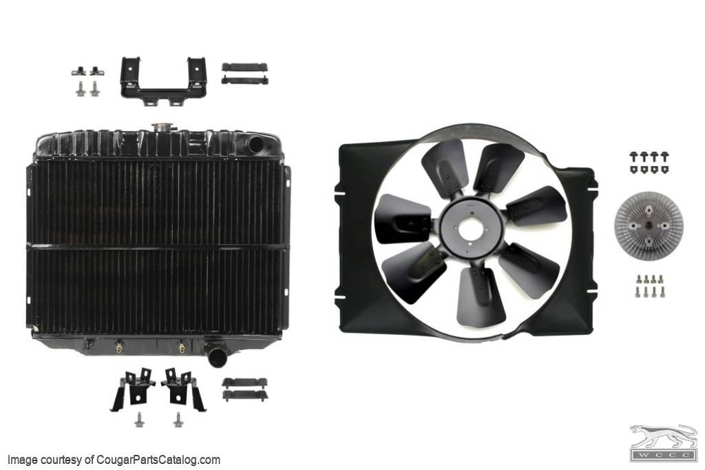 Cooling System Upgrade - Small Block - Complete Kit - Repro ~ 1967 - 1968 Mercury Cougar / 1967 - 1968 Ford Mustang  - 30308