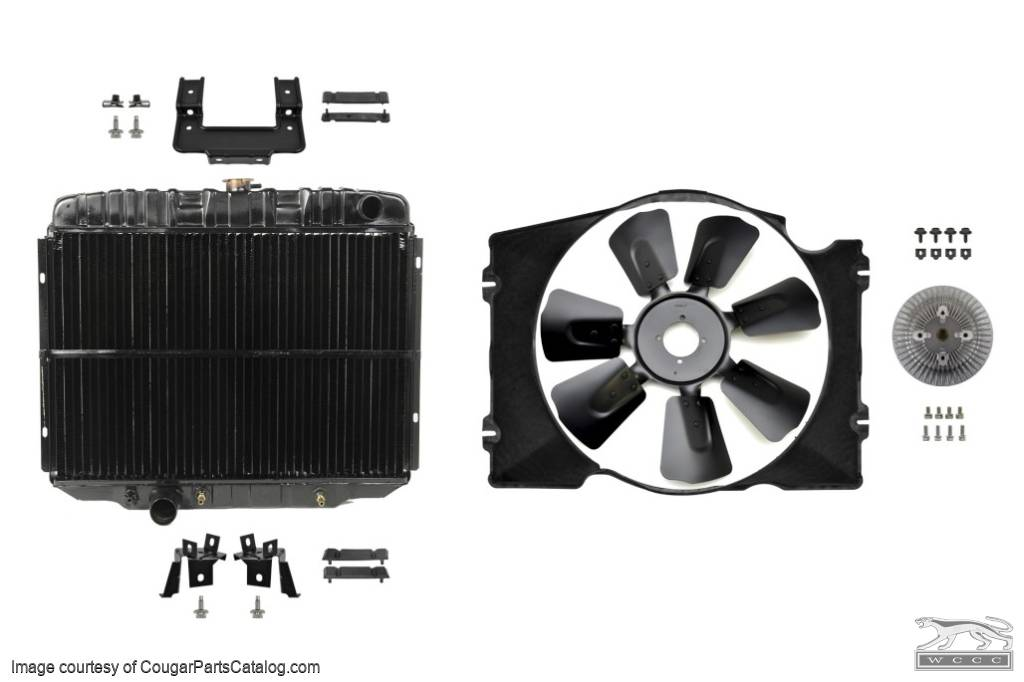 Cooling System Upgrade - Small Block - Complete Kit - Repro ~ 1970 Mercury Cougar / 1970 Ford Mustang  - 30309