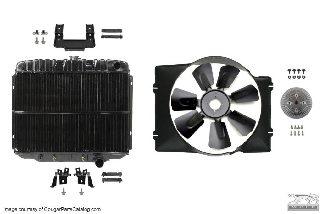 Cooling System Upgrade - Small Block - Complete Kit - Repro ~ 1969 Mercury Cougar / 1969 Ford Mustang  - 30311