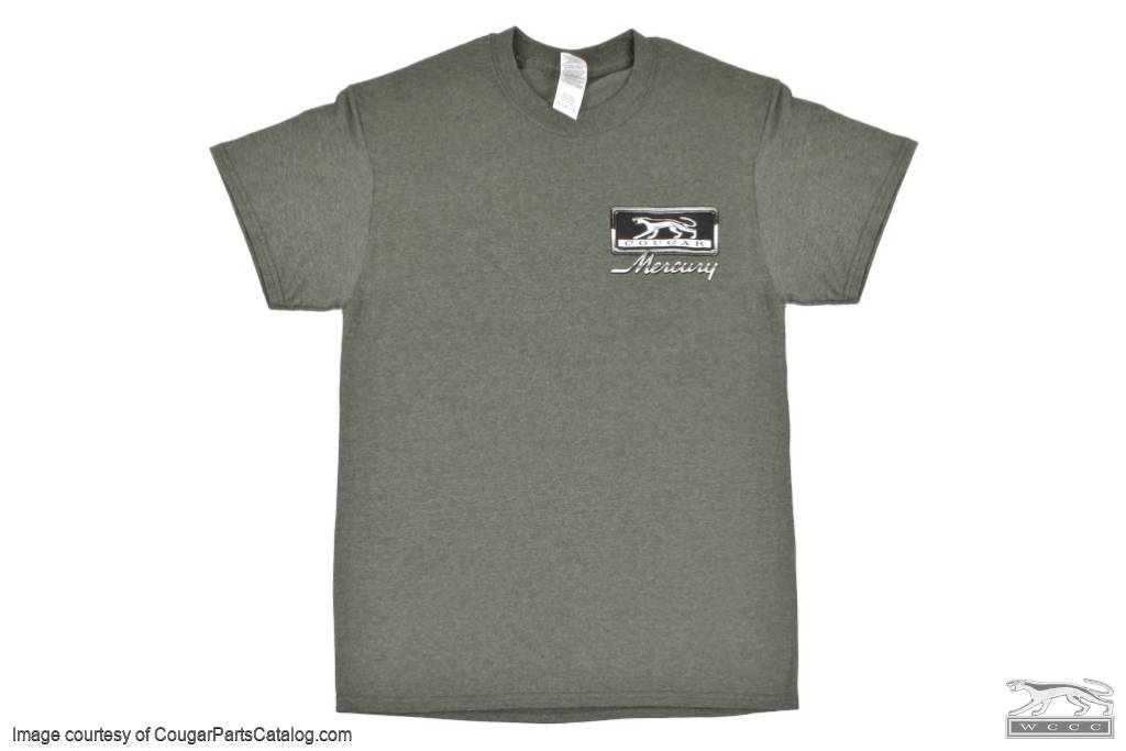 T-Shirt - Multi Cougar Style - SMALL - New ~ 1967 - 1973 Mercury Cougar  - 30473