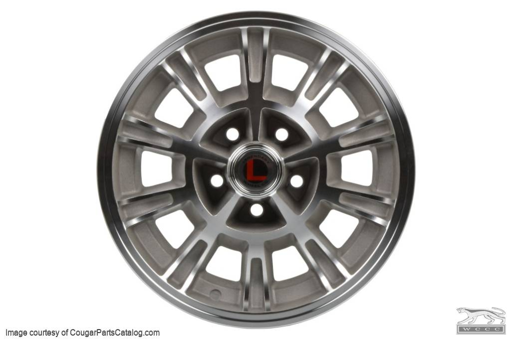 Legendary 1966 Shelby - Natural Accent - 10 Spoke - 15 X 7 - Repro ~ 1967 - 1973 Mercury Cougar / 1967 - 1973 Ford Mustang - 30523