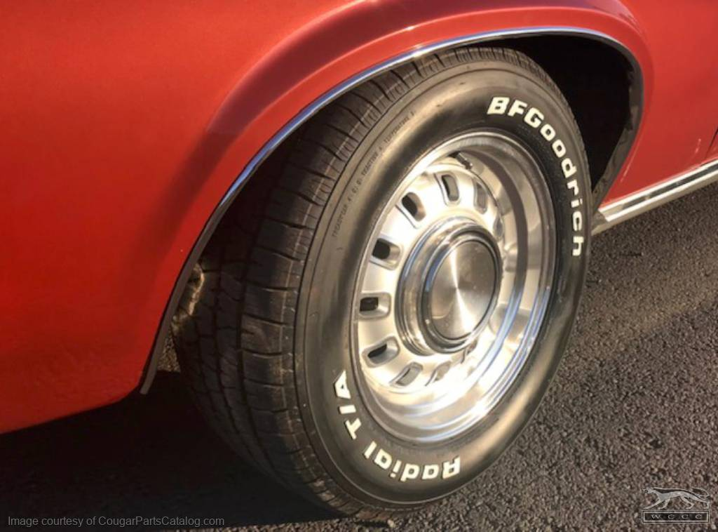 Legendary Eliminator Wheel - 15 X 7 - Silver Center - Repro ~ 1967 - 1973 Mercury Cougar / 1967 - 1973 Ford Mustang / Torino - 30525