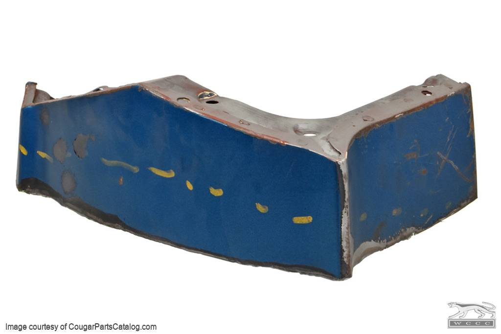 Fender Front Structure - Driver Side - Used ~ 1967 - 1968 Mercury Cougar - 30573