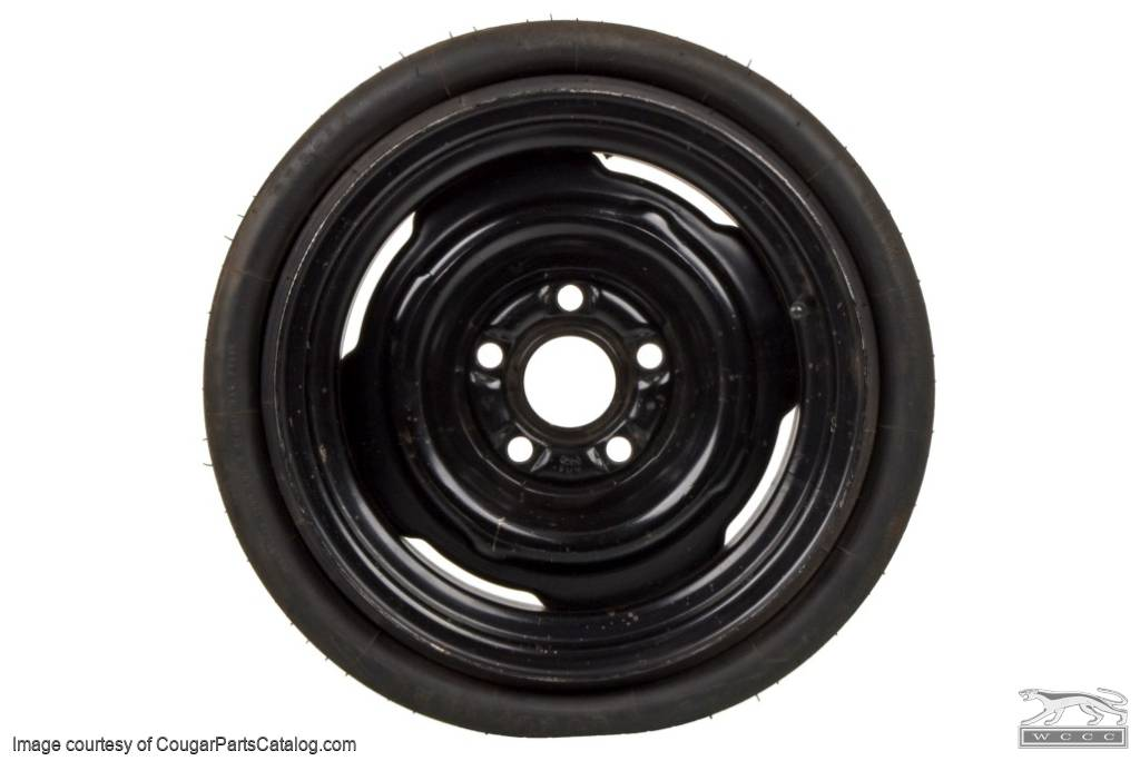 Spare Tire - Collapsible / Space Saver - F78-14 GOODYEAR - NOS ~ 1970 - 1973 Mercury Cougar / 1970 - 1973 Ford Mustang - 30624